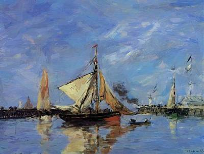 Trouville The Jettys High Tide 1890 Art Print