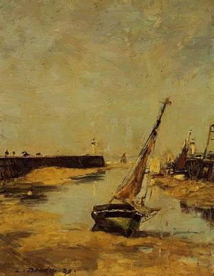 Trouville The Jettys Low Tide 1883 Art Print