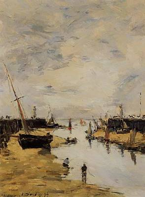 Trouville The Jettys Low Tide 1894 1 Art Print