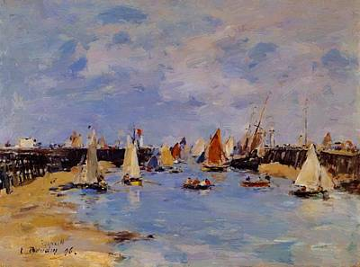Trouville The Jettys Low Tide Art Print