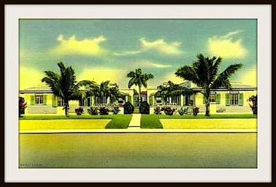 Villa Mixed Media - Trouville Villas, Normandy Isle, Miami Beach Fl, 1950 by Dwight GOSS