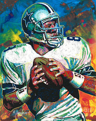 Painting - Troy Aikman by Maria Arango