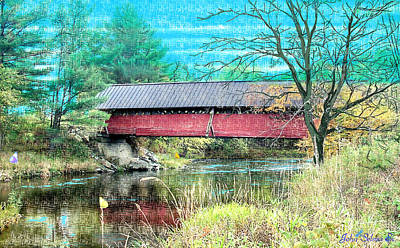 Digital Art - Troy Bridge   North Side by John Selmer Sr