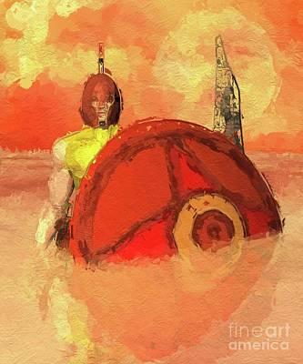 Fantasy Digital Art - Troy Has Fallen by Mary Bassett