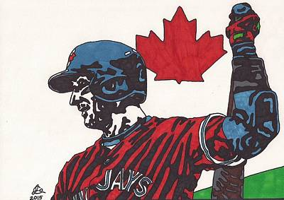 Drawing - Troy Tulowitzki 1 by Jeremiah Colley