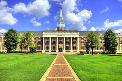 Campus Life Photograph - Troy University Bibb Graves Hall by JC Findley