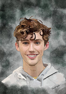 Neighbourhoods Painting - Troye Sivan by Vincent Martin