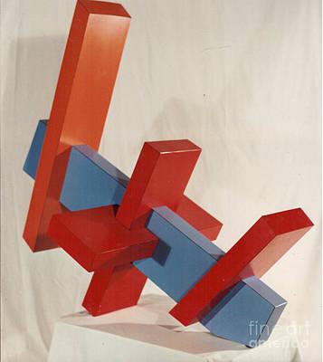 Sculpture - Tru Blue Three by Robert F Battles