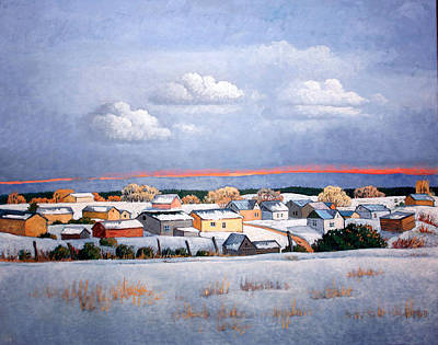 Painting - Truchas Town by Donna Clair