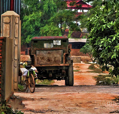 Photograph - Truck Ally Way Vietnam House  by Chuck Kuhn