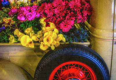 Pick Up Truck Photograph - Truck Bed Full Of Flowers by Garry Gay