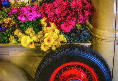 Truck Bed Full Of Flowers Art Print