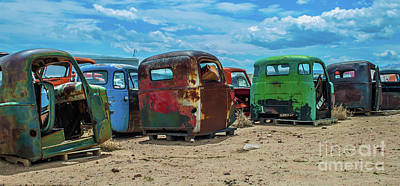 Photograph - Truck Cabs by Tony Baca