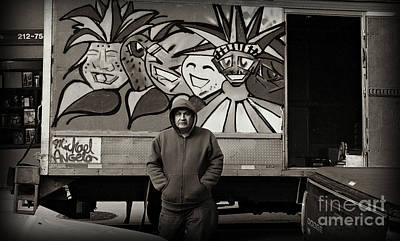 Photograph - Truck Delivery Man - East Side New York by Miriam Danar