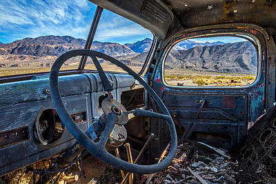 Rusty Old Trucks Photograph - Truck Desert View by Peter Tellone