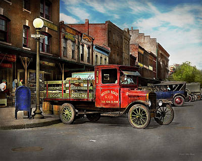 Photograph - Truck - Home Dressed Poultry 1926 by Mike Savad