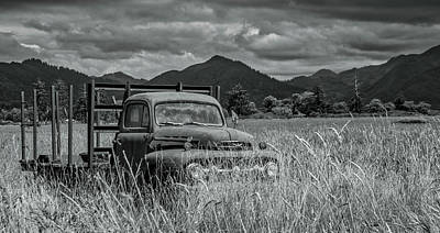 Photograph - Truck In Weeds by Bill Posner