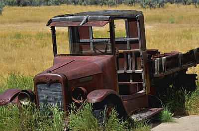 Art Print featuring the photograph Truck Long Gone by Kae Cheatham