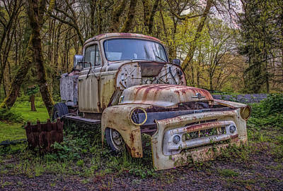 Photograph - Truck Parts by Bill Posner