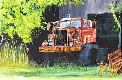 Painting - Truck Rusted by Teresa Beyer