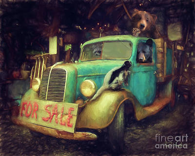 Truck Sale Art Print by Tim Wemple