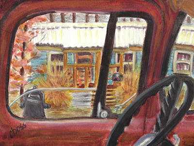 Cotton Gin Painting - Truck Shack by Carol Boss