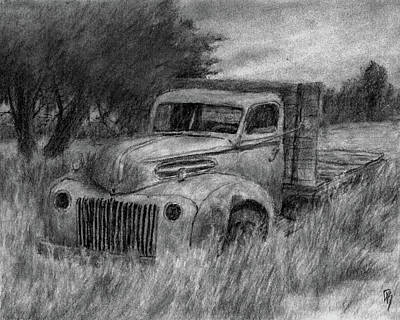 Ford Truck Drawing - Truck Study I by David King