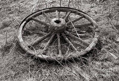 Truck Wagon Wheel Original by Lionel F Stevenson