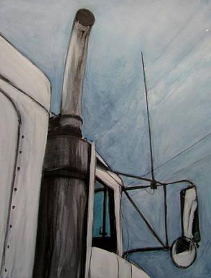 Painting - Truck White by Anita Burgermeister