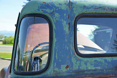 Photograph - Truck Windows And Rust by Kae Cheatham
