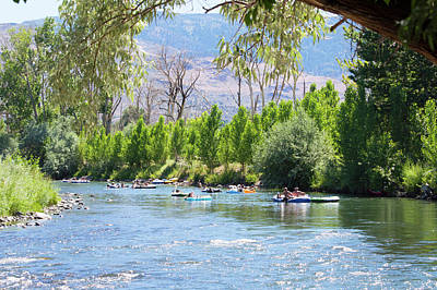 Photograph - Truckee River Floating by Brent Dolliver