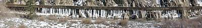 Truckee River Flumes Art Print by Edward Hass
