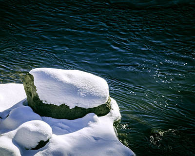 Photograph - Truckee River Snow by William Havle