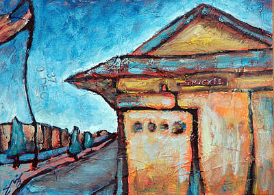 Truckee Train Depot Number 2 Art Print by Sara Zimmerman