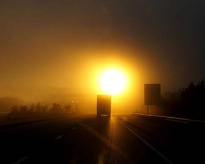Photograph - Truckers Sunrise by TnBackroadsPhotos