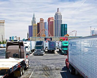 Tropicana Las Vegas Photograph - Truckers Visit Vegas.1 by Keith Birmingham