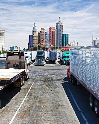 Tropicana Las Vegas Photograph - Truckers Visit Vegas.2 by Keith Birmingham