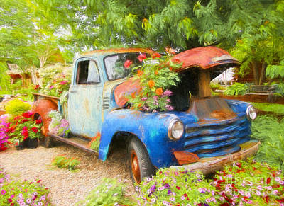 Photograph - Truckful Of Flowers by Clare VanderVeen