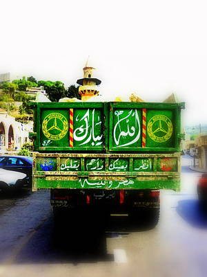 Trucking Across Lebanon Print by Funkpix Photo Hunter