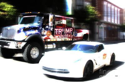 Trucking Trump  Art Print by Steven Digman