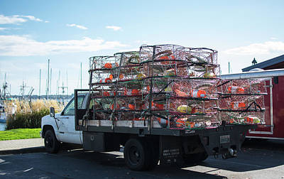 Photograph - Truckload Of Crab Pots by Tom Cochran