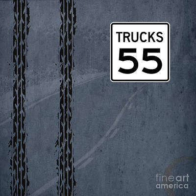 Asphalt Mixed Media - Trucks 55 by Pablo Franchi