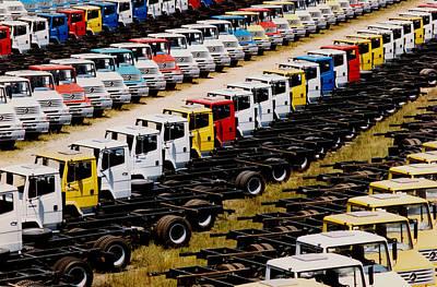Trucks Art Print by Amarildo Correa