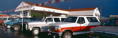 Trucks In Used Car Lot, St. George, Utah Art Print by Panoramic Images