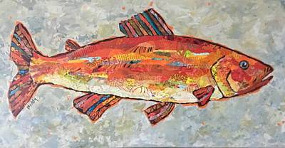 Painting - Trudy The Trout by Phiddy Webb
