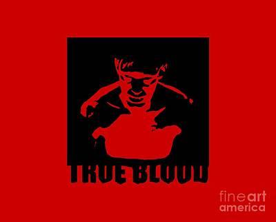 True Blood  Eric Northman Vampire Stencil Art Print by Paul Telling