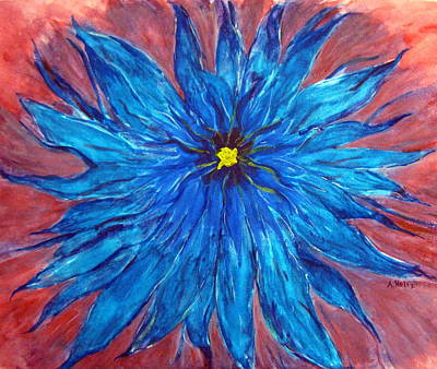 Painting - True Blue by Arlene Holtz