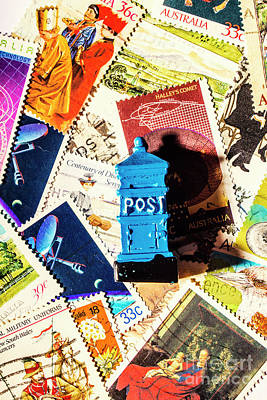 Post Offices Photograph - True Blue Postbox by Jorgo Photography - Wall Art Gallery