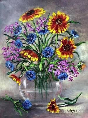 Painting - True Blue by Randol Burns