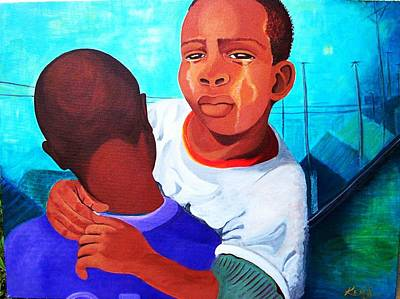 Ghetto Painting - True Brotherly Love by Kenji Lauren Tanner